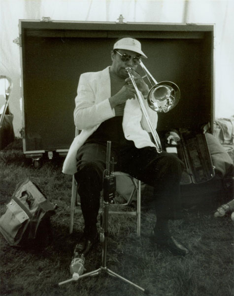 J.J. Johnson performed at the 1996 Litchfield Jazz Festival.  Photo: Don Heiny